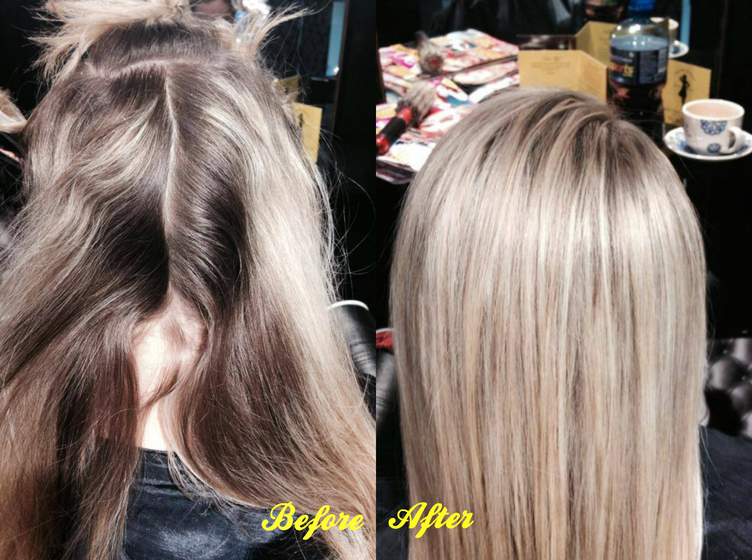 Before and after the hair hostess btx botox for hair pmusecretfo Image collections