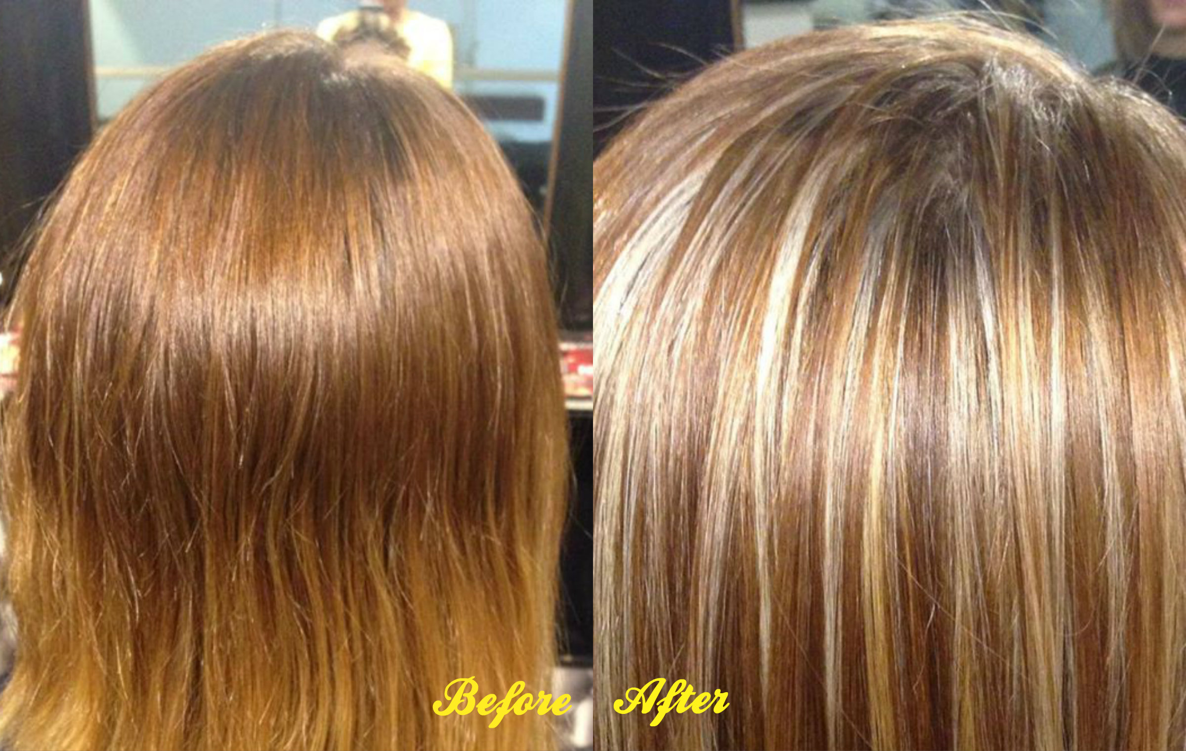 Blonde Hair With Lowlights Before And After Best Image Of Blonde